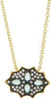 Freida Rothman CZ Crystal Shield Pendant Necklace, Blue