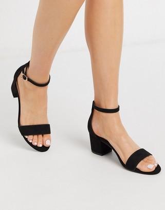 Miss KG percy mid block heel sandals in black