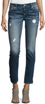 Miss Me Skinny Embroidered Denim Jeans, Blue