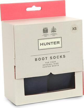 Hunter Boys Navy Blue Kids Boot Socks
