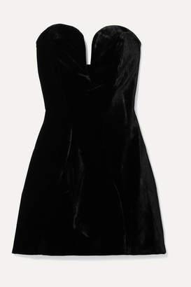 Michael Lo Sordo Jessica Strapless Velvet Mini Dress - Black