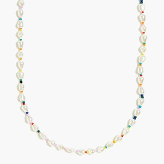 J.Crew Pearl and bead single-layer necklace