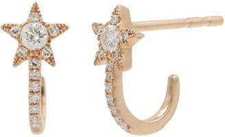 Kamaria Diamond Star Huggies - Rose Gold