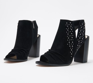 Vince Camuto Suede Peep-Toe Heeled Sandals - Machinie