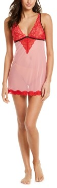 INC International Concepts Inc Sheer Lace Chemise Nightgown, Created for Macy's