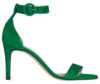LK Bennett L.K.Bennett Dora Stiletto Sandals, Green Suede
