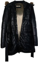 Oakwood Black Leather Coat for Women