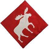 MARY ST 18x18 Inch Cotton Linen Decorative Throw Pillow Cover Cushion Case, Holiday Moose