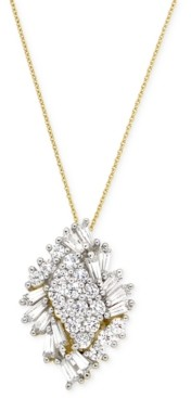 Wrapped in Love Diamond Cluster Pendant Necklace (1 ct. t.w.) in 14k Gold, Created for Macy's