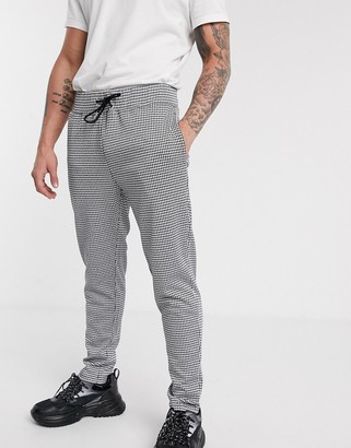 Topman joggers in dogtooth