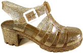 Gold Glitter Jelly Sandal