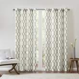 "E and E Co., LTD. Madison Park Bond Fretwork Window Panel Curtain - Gray/Beige/50"" x 63"""