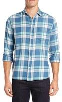 Faherty 'Ventura' Trim Fit Washed Plaid Sport Shirt
