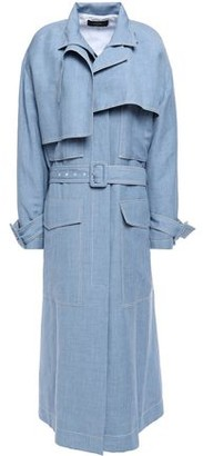 Joseph Belted Linen, Wool And Silk Trench Coat