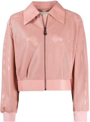 Fendi Perforated Cropped Jacket