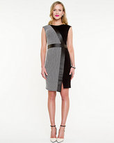 Le Château Knit Dot Print Asymmetrical Dress