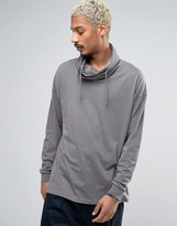 Asos Oversized Long Sleeve T-Shirt With Double Funnel Neck
