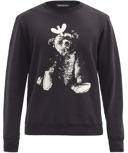 Undercover Toy-print Cotton-jersey Sweater - Black