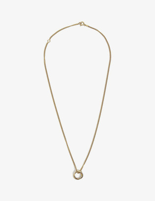 Tilly Sveaas Ltd Russian 23ct gold-plated sterling silver ring on curb chain necklace
