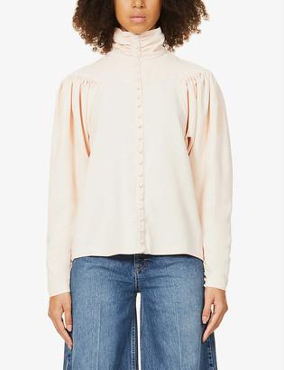 REMAIN Birger Christensen Marita gathered crepe blouse