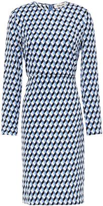 Diane von Furstenberg Cleo Printed Stretch-crepe Dress