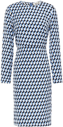 Diane von Furstenberg Printed Stretch-jersey Dress