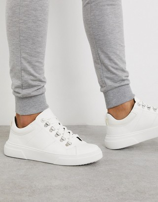Topman chunky sneakers in white