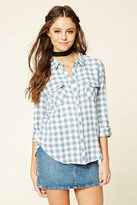 Forever 21 FOREVER 21+ Gingham Button-Front Shirt