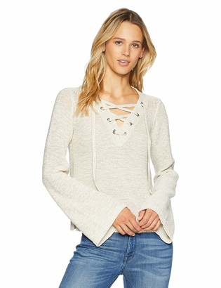 Cupcakes And Cashmere Women's Calida Lace up Front Pullover Sweater