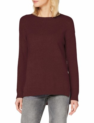 Vila NOS Women's VIRIL HIGH Low L/S Knit TOP - NOOS Sweater