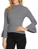 1 STATE 1.state Ribbed Bell Sleeve Top