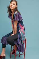Maeve Loren Flutter-Sleeve Swing Dress