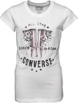 Converse Junior Girls Born To Roam T-Shirt White