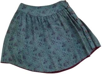 Zadig & Voltaire Green Silk Skirt for Women