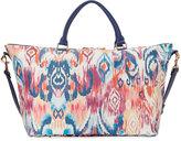 Neiman Marcus Ikat-Print Weekender Bag