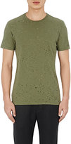 "Barneys New York Men's Distressed ""Acid Rain"" T-Shirt-DARK GREEN"