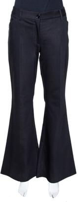 Dolce & Gabbana Black Stretch Cotton Flared Pants L