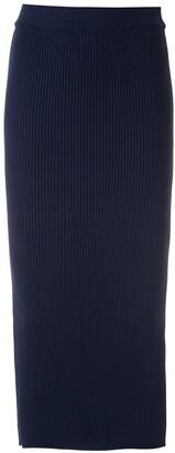 Martha Medeiros Knitted Midi Skirt