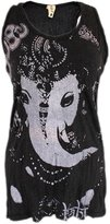 Yoga Tees - Omtimistic Women's Hindu God Ganesh Om Symbol Racer Back Tank Top M