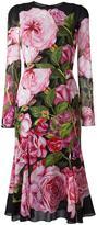 Dolce & Gabbana rose print dress - women - Silk/Cotton/Polyamide/Spandex/Elastane - 40