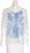 Raquel Allegra Tie-Dye Print Short Sleeve Top