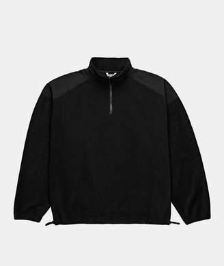 Polar Black Polyester Lightweight Fleece Pullover - SMALL - Black/Grey