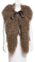 Marc Jacobs Alpaca & Mongolian Lamb Fur Vest w/ Tags
