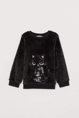 H&M Top with Sequins - Black