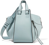 Loewe Hammock Small Textured-leather Tote - Sky blue