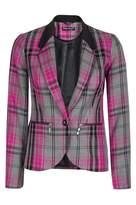 Select Fashion Fashion Womens Pink Tartan Blazer - size 6