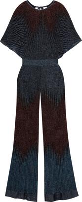 M Missoni Tie-back Metallic Crochet-knit Wide-leg Jumpsuit