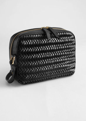 And other stories Braided Leather Zig Zag Shoulder Bag