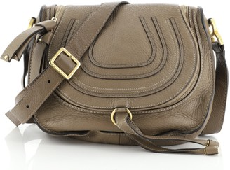 Chloé Marcie Zip Crossbody Bag Leather Medium