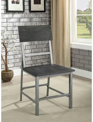 Gracie Oaks Allin Metal Ladder Back Side Chair